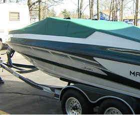 Custom boat cover.